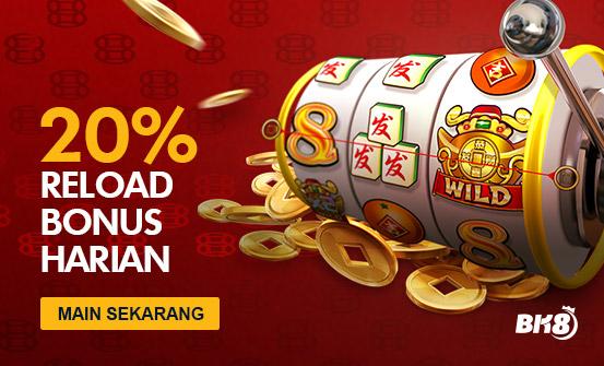 VIP SLOTS 20% WEEKEND RELOAD BONUS for BK8